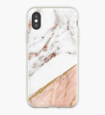 Rose gold marble blended iPhone Case