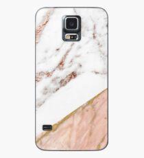 Rose Gold Marmor gemischt Hülle & Skin für Samsung Galaxy