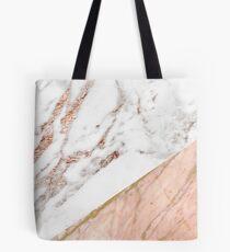 Rose gold marble blended Tote Bag