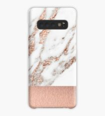 Rose gold marble and foil Case/Skin for Samsung Galaxy