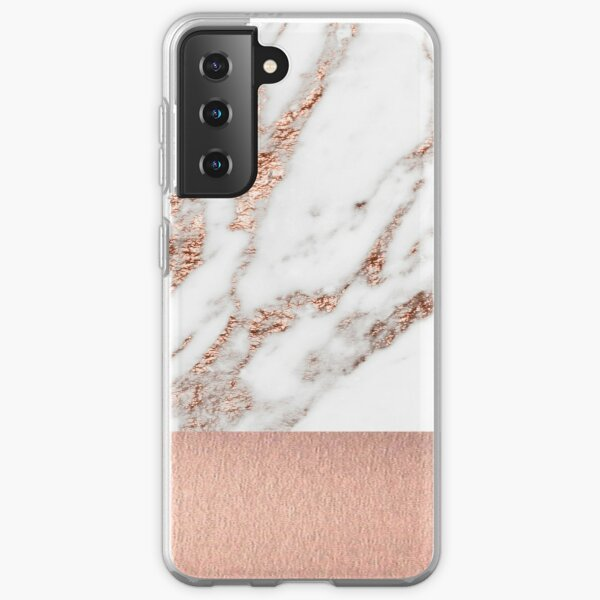 Rose gold marble and foil Samsung Galaxy Soft Case