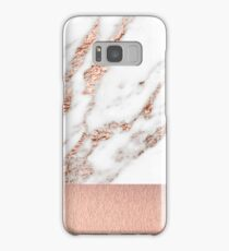 Rose gold marble and foil Samsung Galaxy Case/Skin