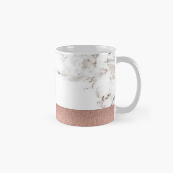 Rose gold marble and foil Classic Mug