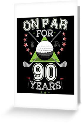 Funny 90th Birthday Golfer T Shirt On Par For 90 Years Golf