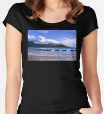 BEAUTIFUL HANALEI BAY Women's Fitted Scoop T-Shirt