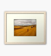 Spanish countryside, on the road from Madrid to Bilbao Framed Print