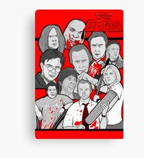 shaun of the dead character collage Canvas Print