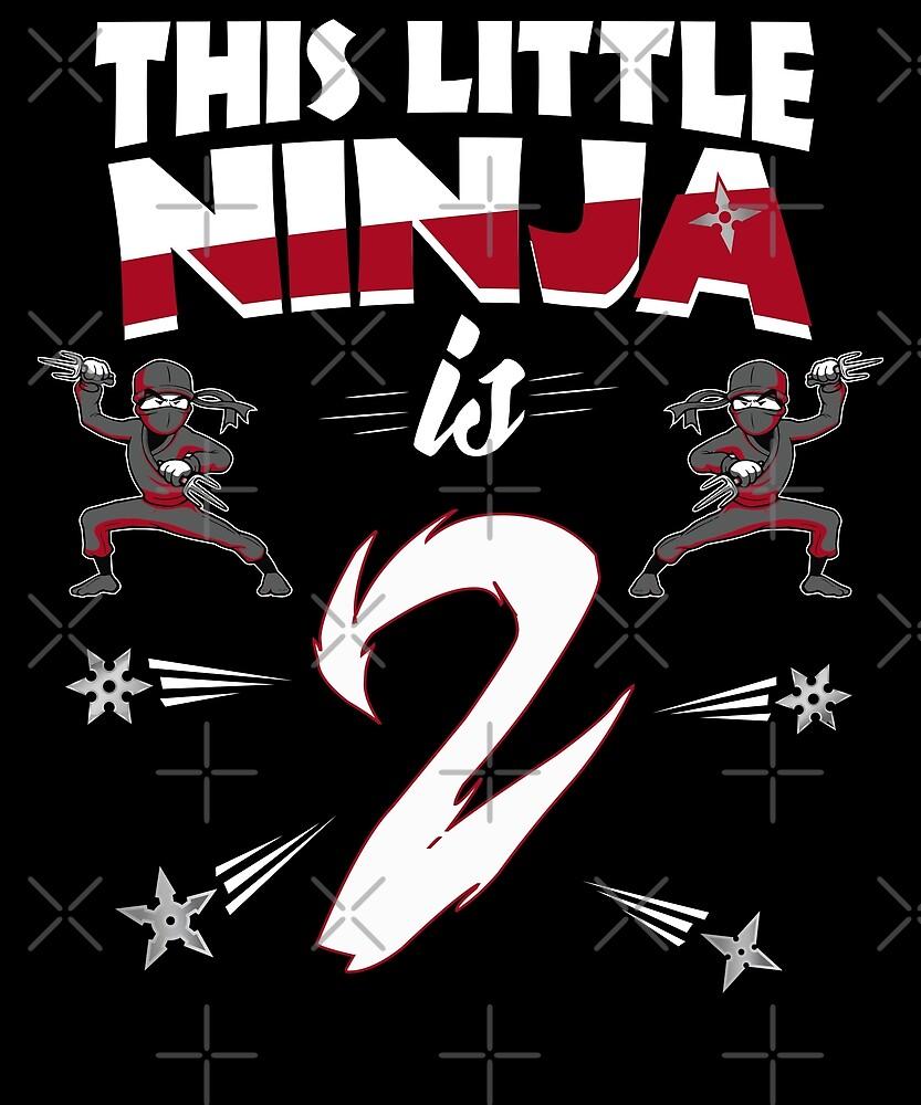 2nd Birthday Boys  Funny 2 Year Old Ninja Martial Arts by SpecialtyGifts