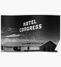 Hotel Congress Sign Poster