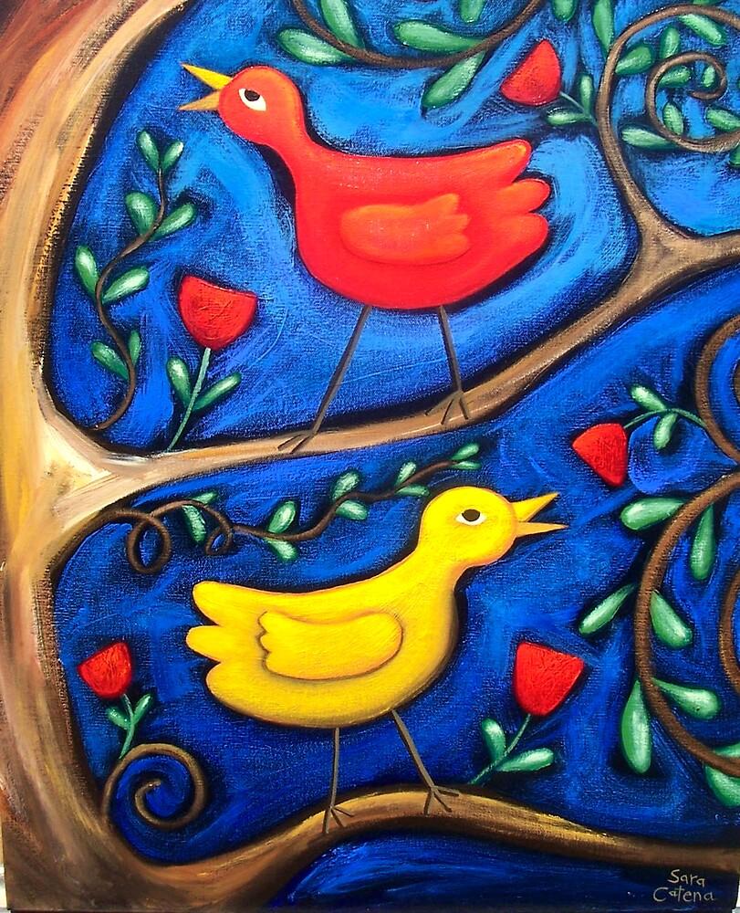 PASAREA  MAIASTRA 2  ( MIRACULOUS  BIRD  2 ) by ART PRINTS ONLINE         by artist SARA  CATENA