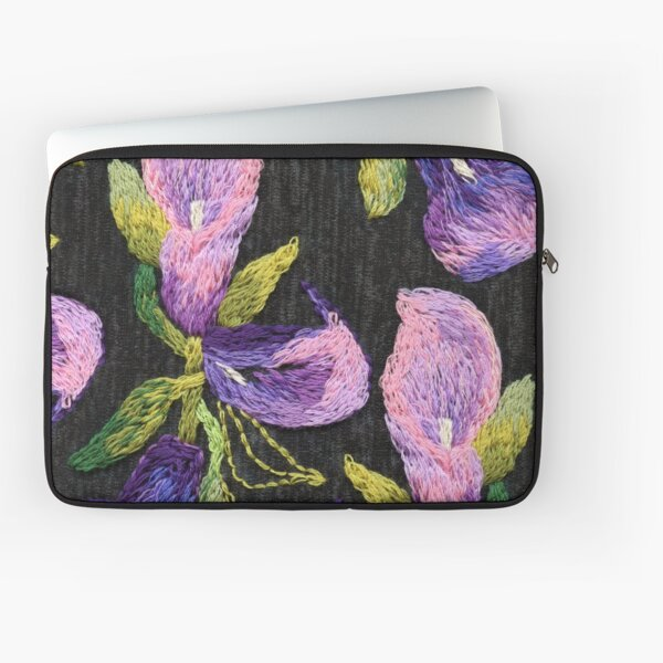 Embroidered callas Laptop Sleeve