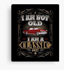 80th Birthday I'm Not Old I'm A Classic Funny Retro Canvas Print