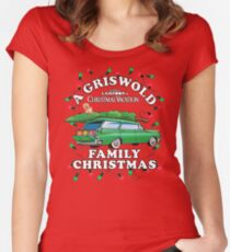National Lampoon's - Xmas Station Wagon Women's Fitted Scoop T-Shirt