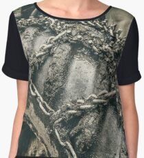 Muddy tractor wheels Women's Chiffon Top