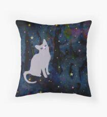 Forest cat Throw Pillow