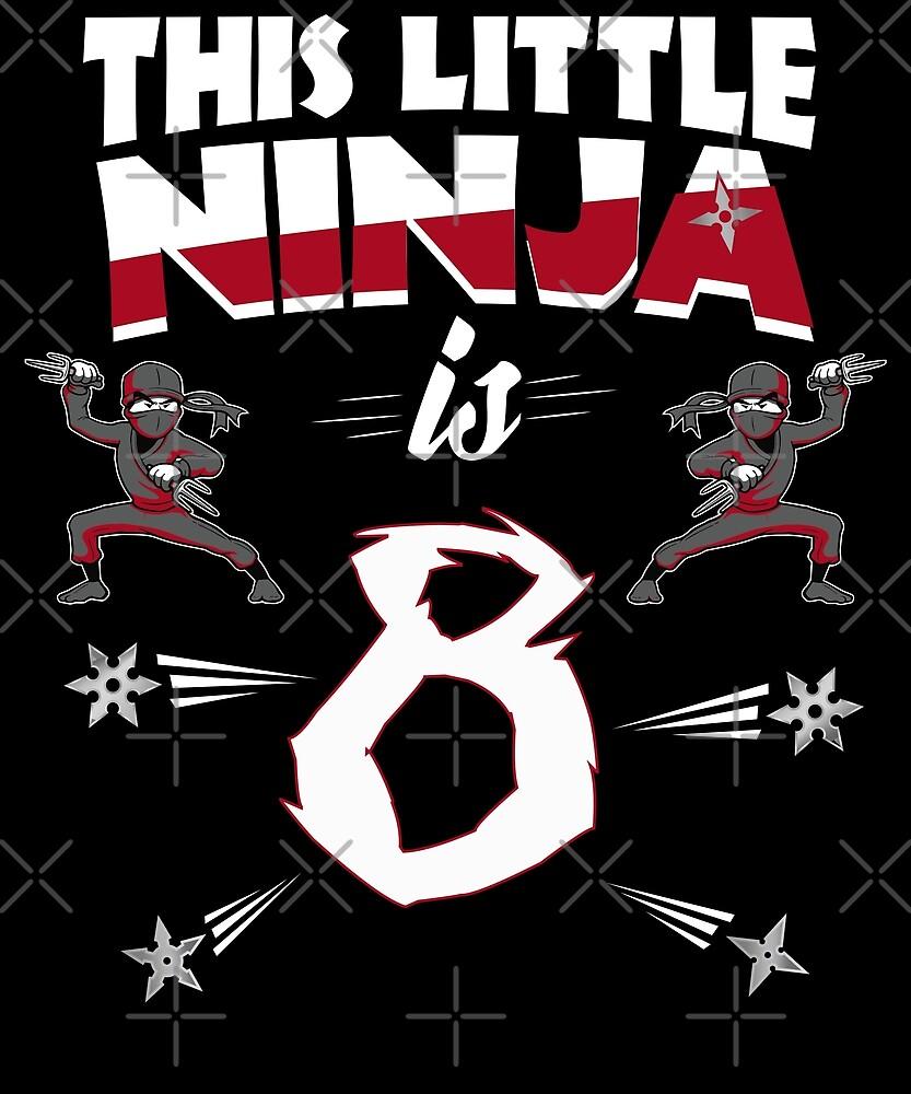 8th Birthday Boys Funny 8 Year Old Ninja Martial Arts by SpecialtyGifts