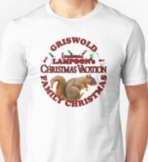 National Lampoon's – Christmas Vacation Deep Red Text T-Shirt