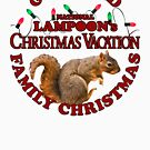National Lampoon - Weihnachtsferien tiefroter Text von Candywrap Design