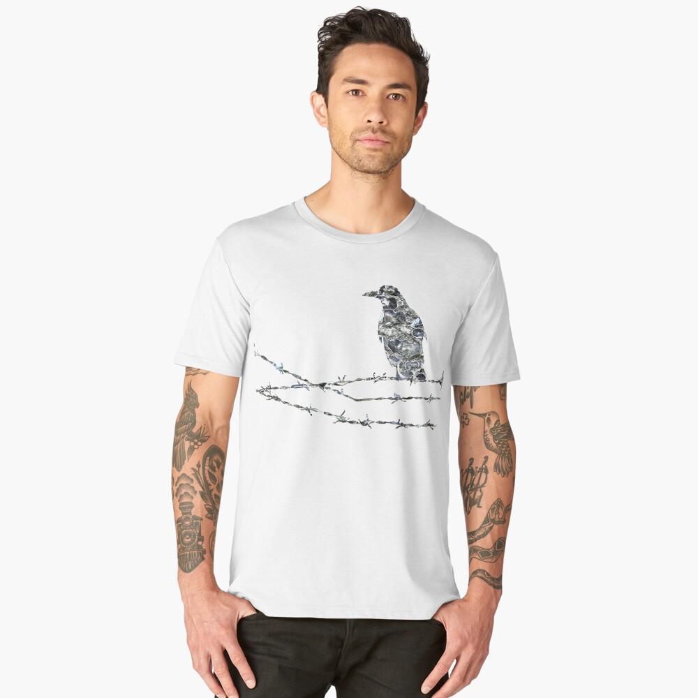 Bird on wire Men's Premium T-Shirt Front