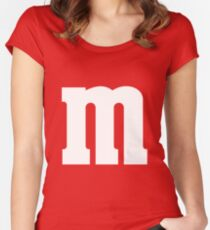 M Candy Halloween costume Women's Fitted Scoop T-Shirt