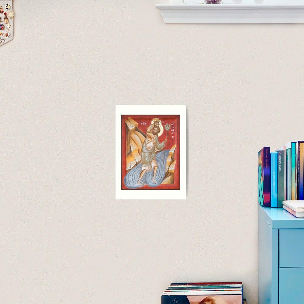 St Christopher Art Print