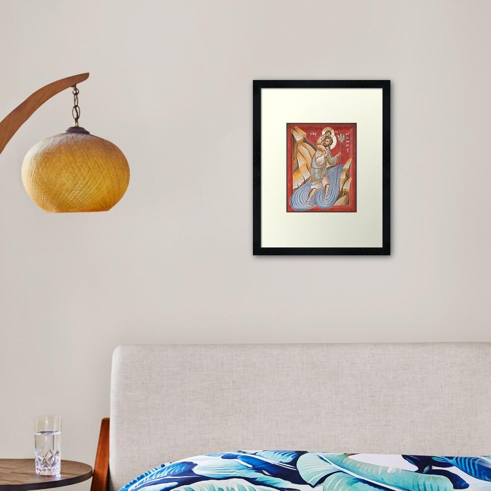 St Christopher Framed Art Print