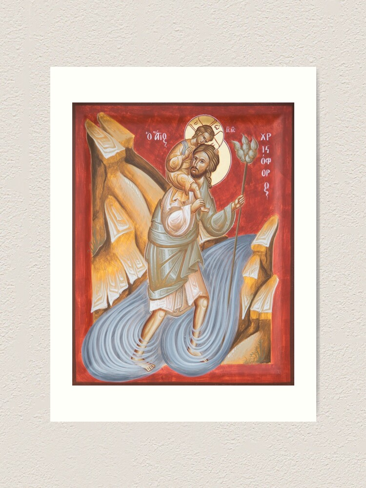 Alternate view of St Christopher Art Print