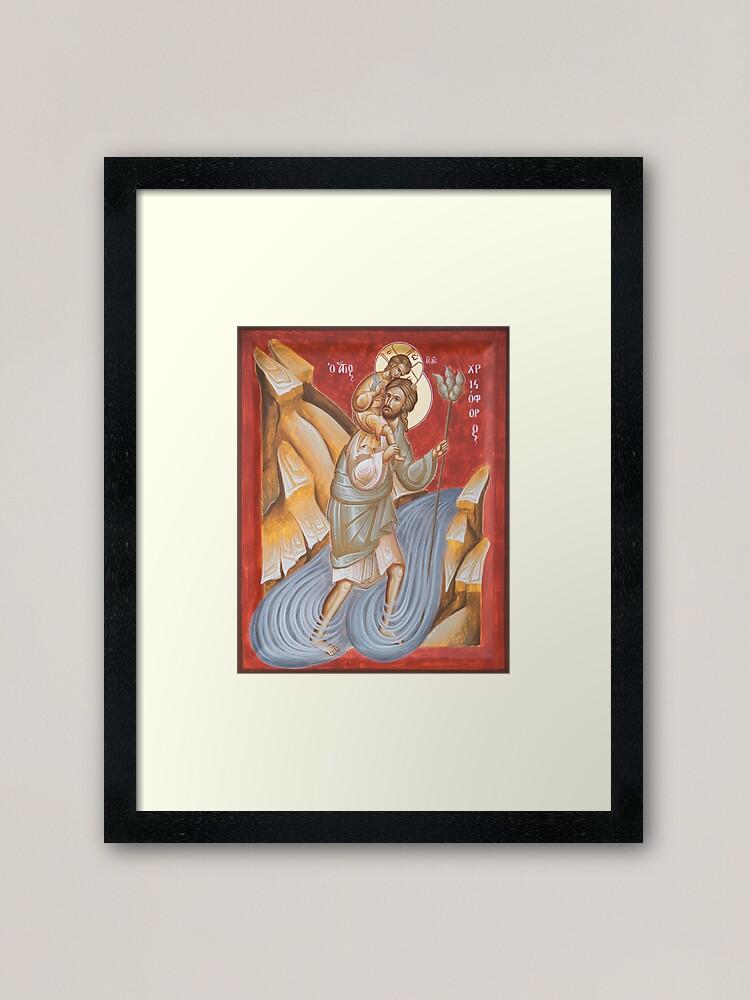 Alternate view of St Christopher Framed Art Print