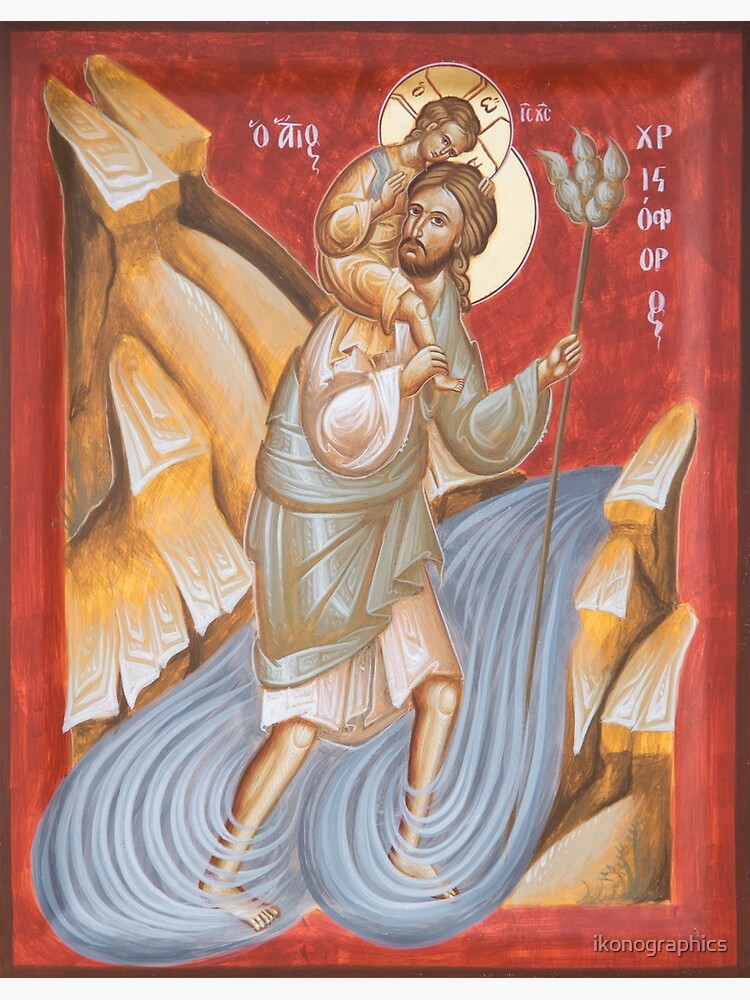 St Christopher by ikonographics