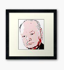 Winston Churchill - Pop Art Framed Print