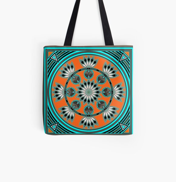 Thunder Beings Orange All Over Print Tote Bag