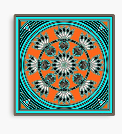 Thunder Beings Orange Canvas Print
