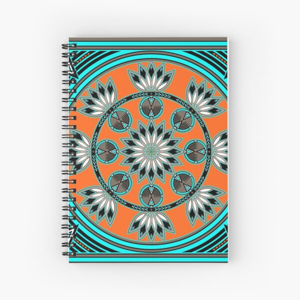 Thunder Beings Orange Spiral Notebook
