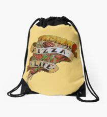 Pizza is Life Drawstring Bag
