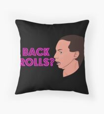 Back Rolls - Alyssa Edwards Throw Pillow