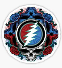 Steal your face illustration (skull) Sticker