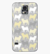 Grey and yellow Pugs Pattern Case/Skin for Samsung Galaxy