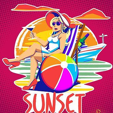 Sunset Lady by NiallByrne