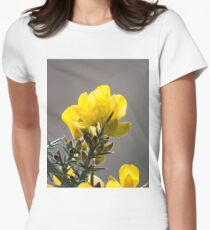 Yellow Gorse Flowers Backlit Women's Fitted T-Shirt