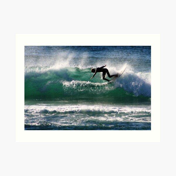 Emerald Surfer Art Print