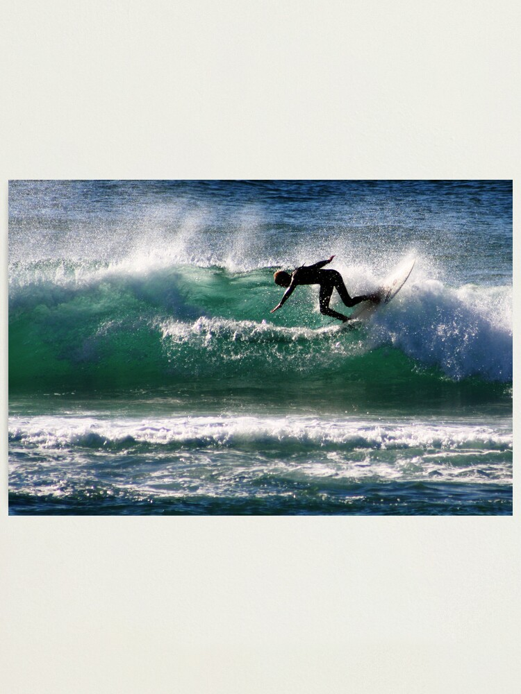 Alternate view of Emerald Surfer Photographic Print
