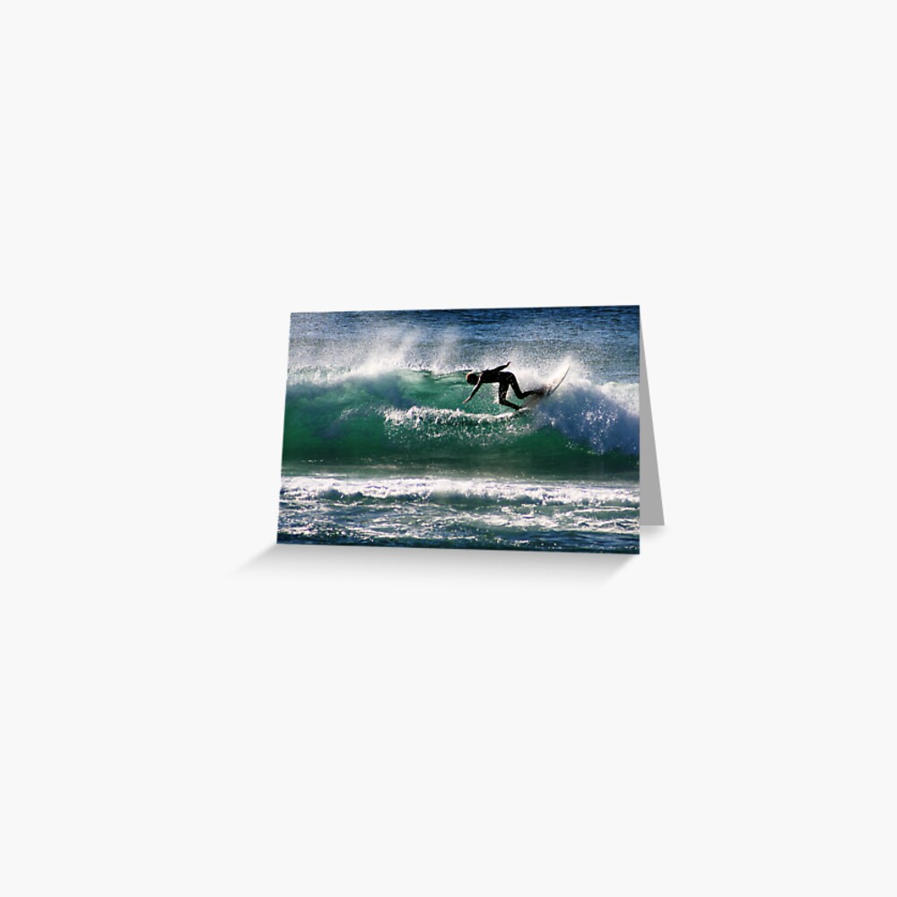 Emerald Surfer Greeting Card