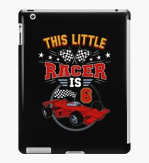Funny 6th Birthday Race Car 6 Yr Old Boy Girl Racer iPad Case/Skin