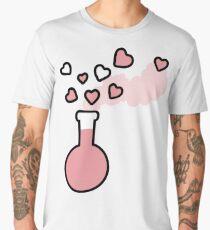 Pink Love Magic Potion in a Laboratory Flask Men's Premium T-Shirt