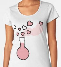 Pink Love Magic Potion in a Laboratory Flask Women's Premium T-Shirt
