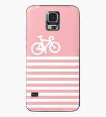 Baby Pink Bike with Stripes Case/Skin for Samsung Galaxy
