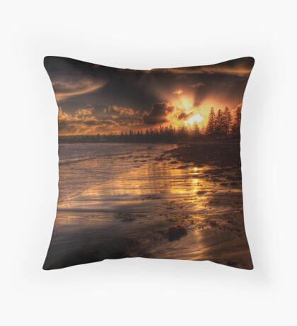 Esplanade sunset Throw Pillow