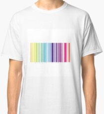 bar_code_colored_stripes_white_0 Classic T-Shirt