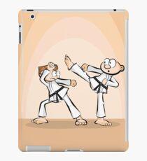 Karate boy exposing his technique iPad Case/Skin