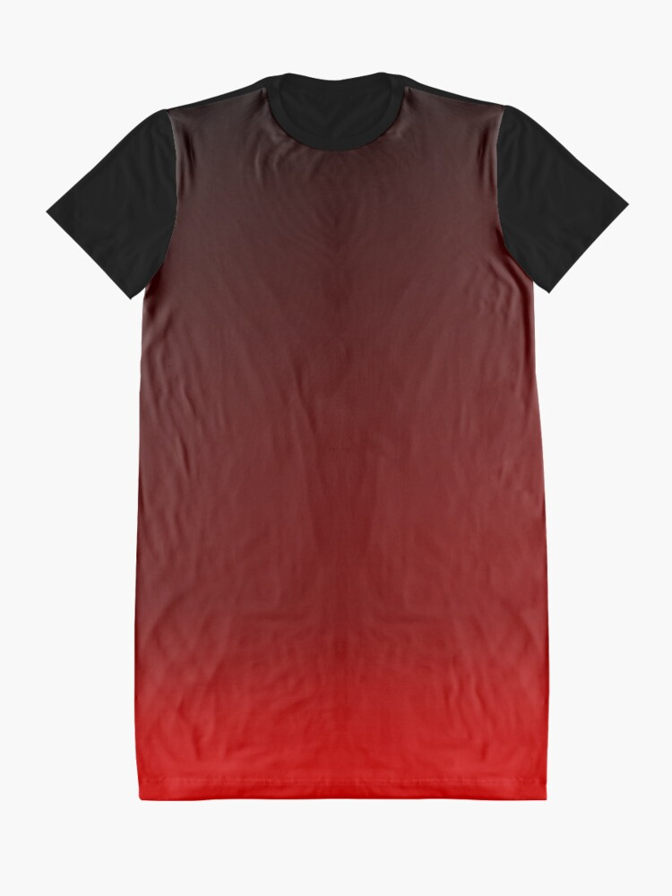 Alternate view of Red Ombre Graphic T-Shirt Dress